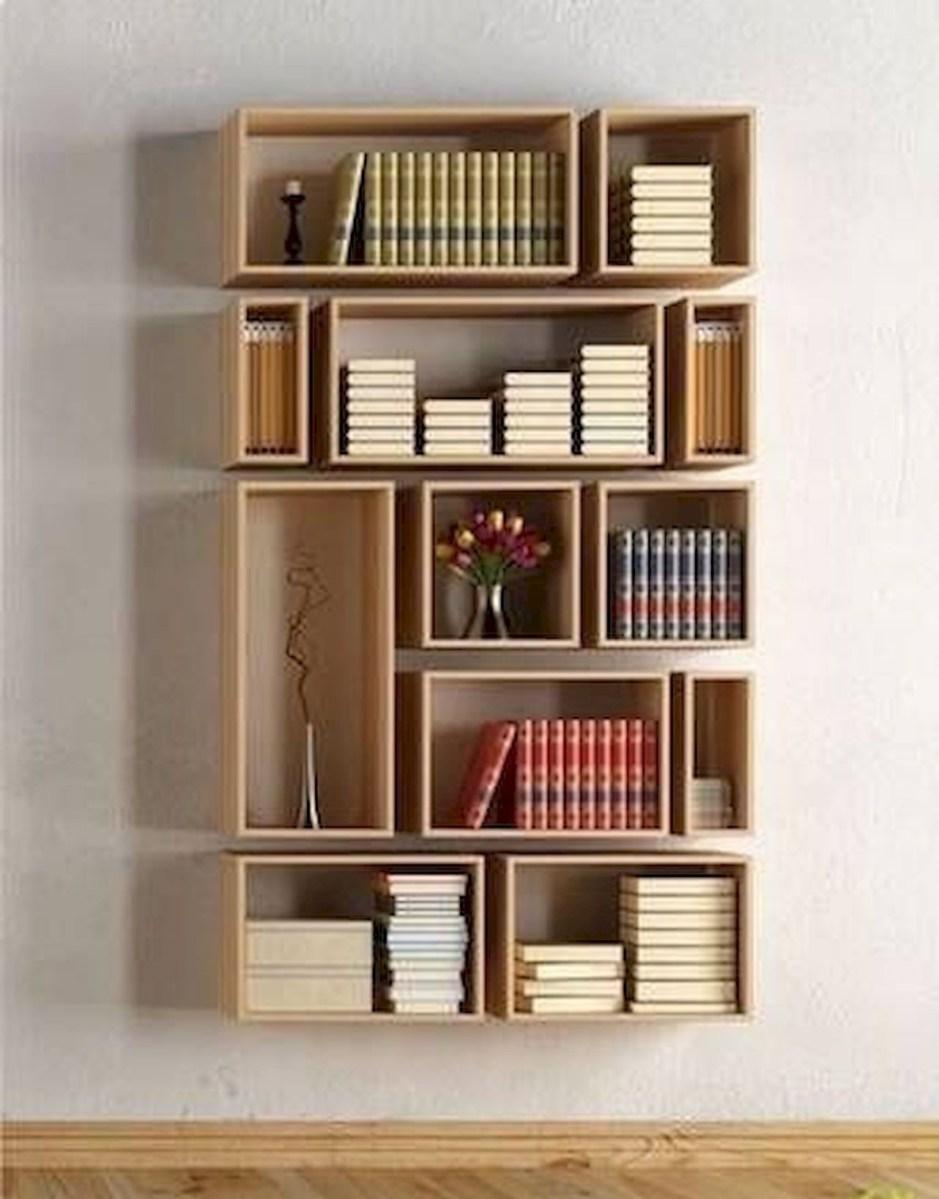 50 Easy DIY Bookshelf Design Ideas (47)