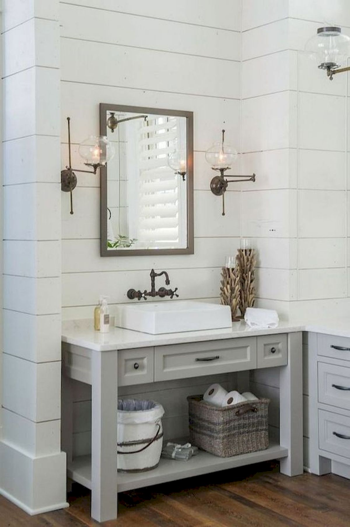 50 Fantastic DIY Modern Farmhouse Bathroom Remodel Ideas (44)