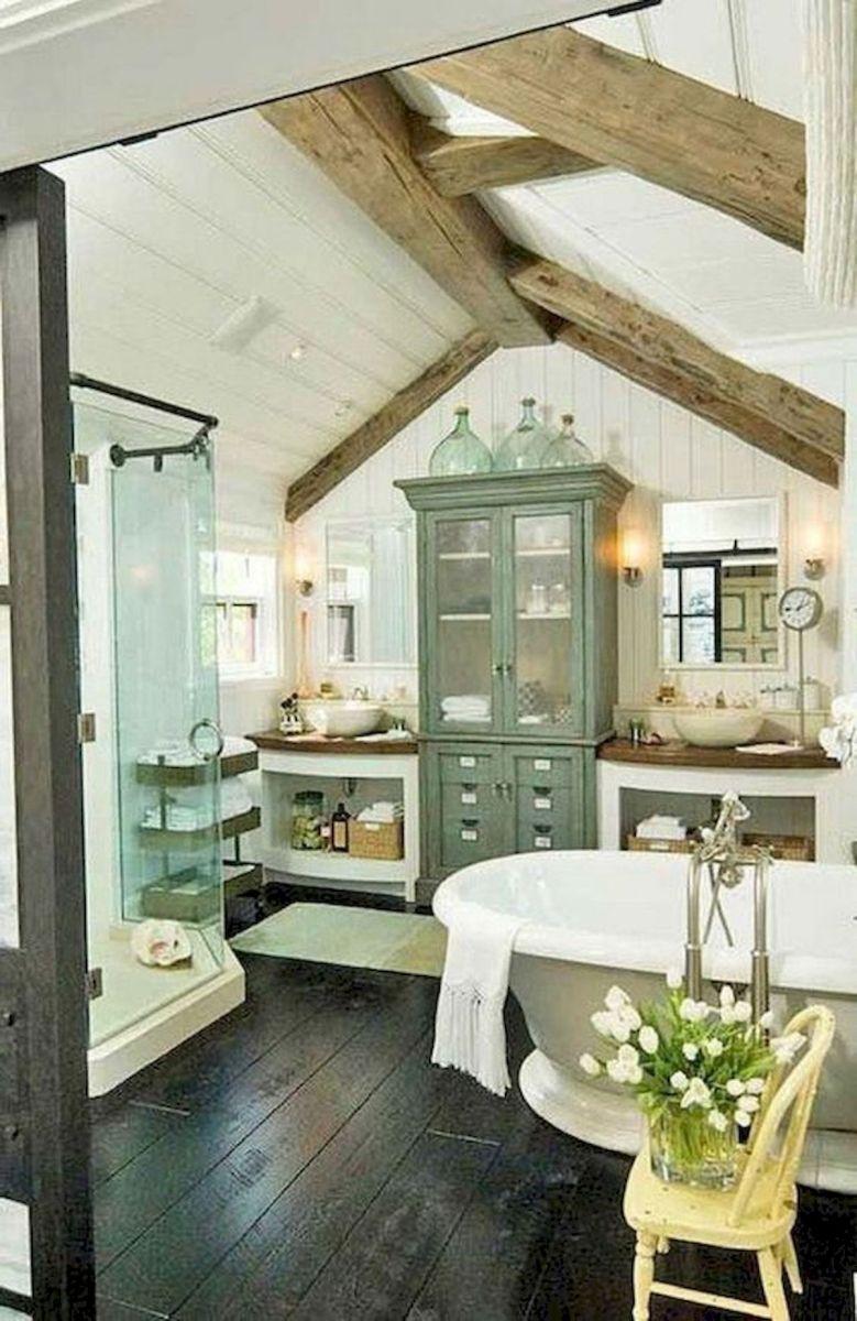50 Fantastic DIY Modern Farmhouse Bathroom Remodel Ideas (8)