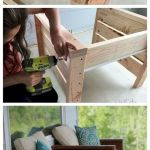 40 Awesome DIY Outdoor Bench Ideas For Backyard and Front Yard Garden (36)