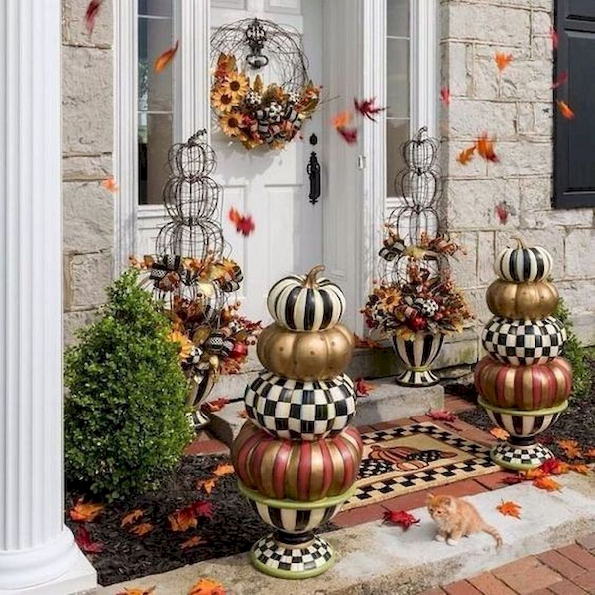35 Beautiful DIY Fall Outdoor Decor Ideas You Will Like (18)