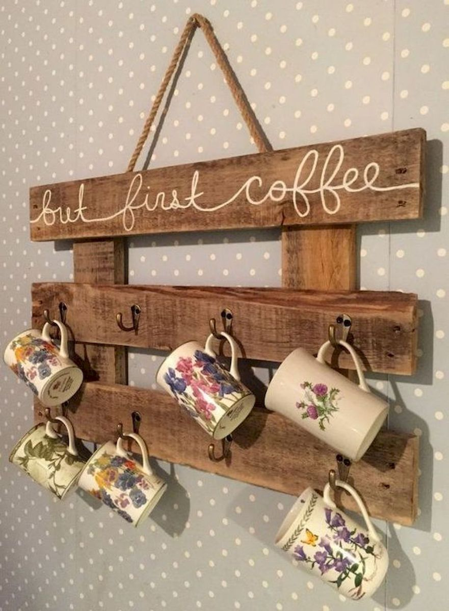 35 Easy DIY Wooden Pallet Mug Rack Ideas Everyone Can Do This (20)