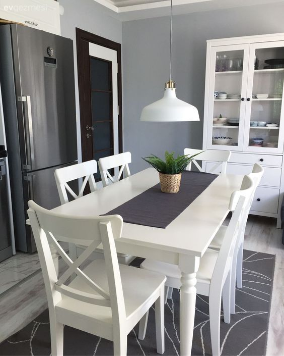 20 Beautiful Farmhouse Dining Room Table Decor Ideas and Remodel (9)