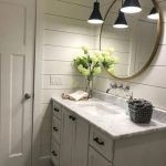 20 Best Farmhouse Bathroom Lighting Decor Ideas And Remodel (19)