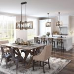 20 Best Farmhouse Dining Room Lighting Decor Ideas and Remodel (11)
