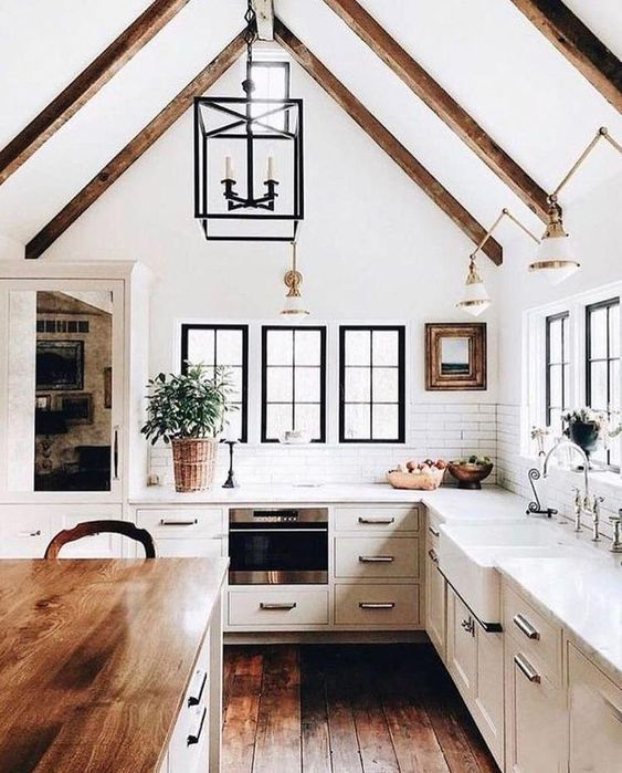 20 Best Farmhouse Kitchen Lighting Decor Ideas and Remodel (11)