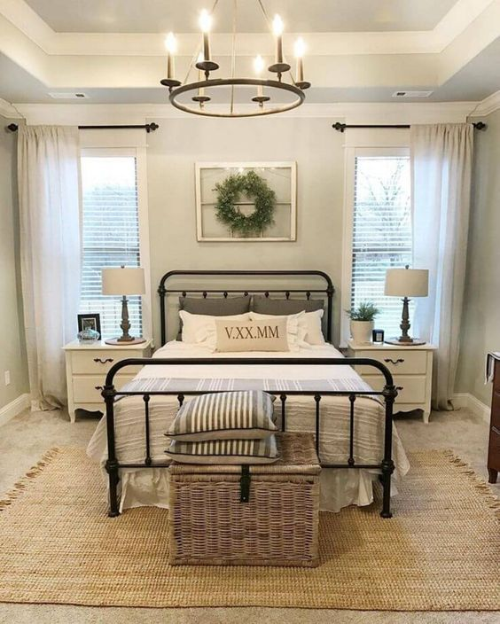 20 Best Industrial Farmhouse Bedroom Decor Ideas and Remodel (13)