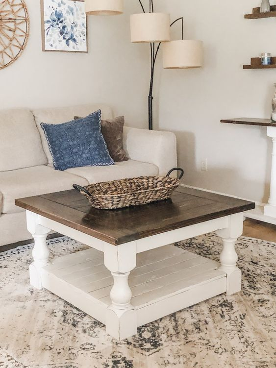 20 Stunning Farmhouse Coffee Table Decor Ideas and Remodel (10)