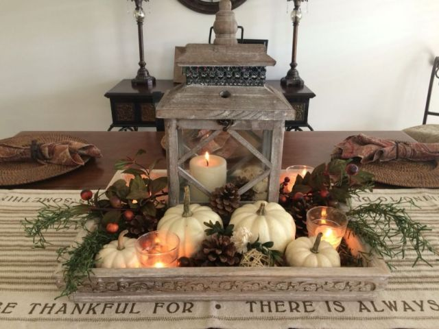 Awesome fall dining table decorations