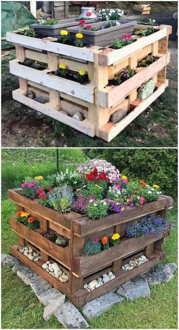 Wonderful wooden pallet ideas for garden