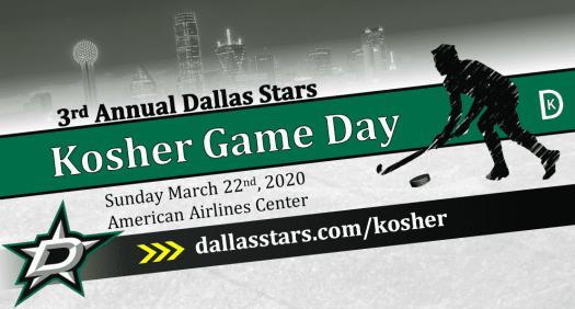 3rd Annual Dallas Stars Kosher Game Day 1
