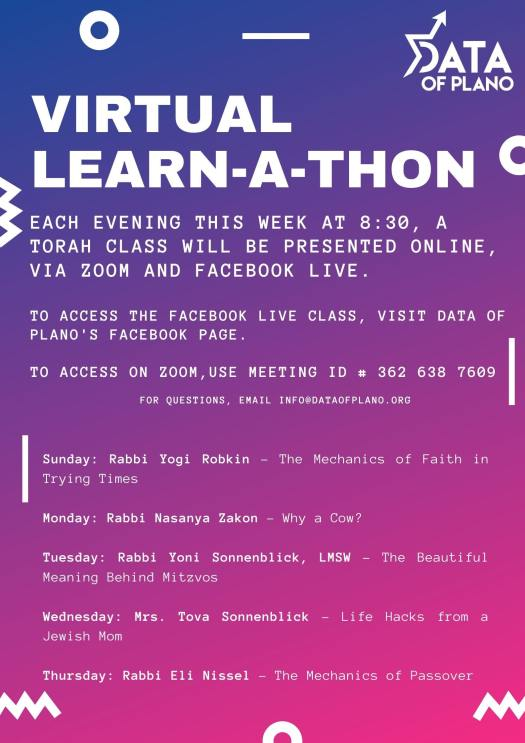 Virtual Learn-a-thon with DATA of Plano 1