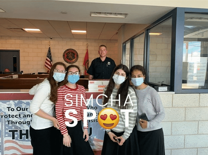 SimchaSpot Followers Take up Social Media Challenge, Thanking Police Officers for their Service 2