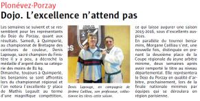 Mardi 27 Mai Denis Champion du Finistère -81kg