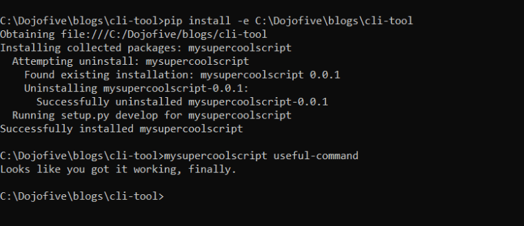 dojofive-successfully-completed-cli-setup