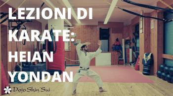 Come chiestomi da Andrey oggi alleneremo il kata heina yondan, il 4° dei 5 kata heian