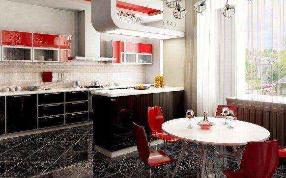 image7-39 | Красные кухни в интерьере