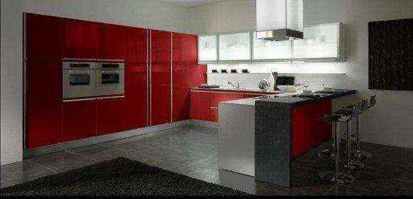 image9-35 | Красные кухни в интерьере