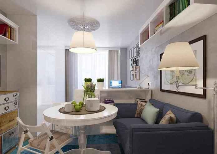 25-deco-1 | Как сделать уютной узкую 25-метровую квартиру-студию