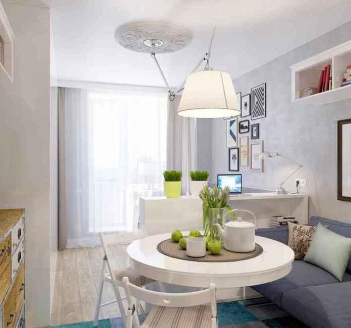25-deco-2 | Как сделать уютной узкую 25-метровую квартиру-студию