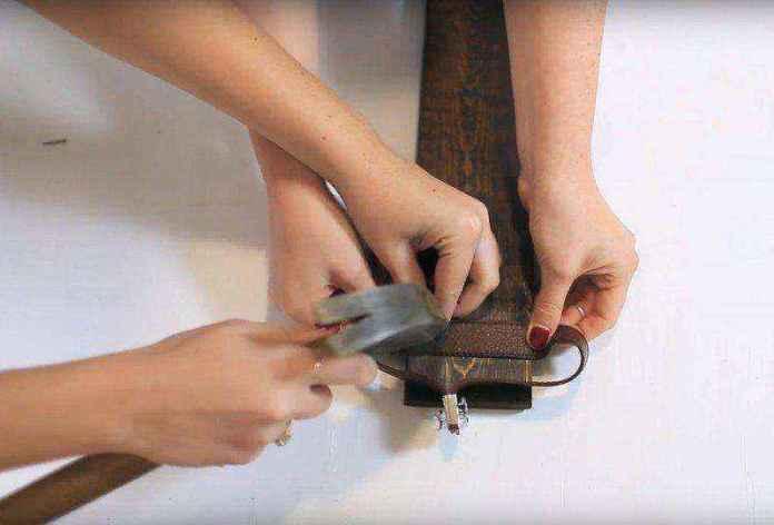 cinturon-viejo-8   Как можно использовать старые ремни для изготовления стильной полки