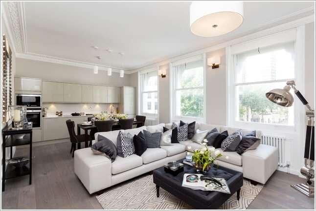 image2-76 | 10 идей как украсить гостиную белым диваном