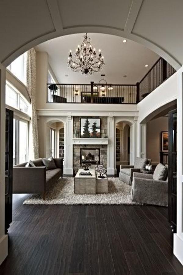 image17-1   30 идей темного деревянного пола в гостиной