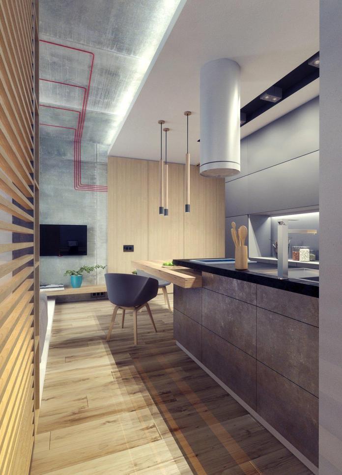 image4-12 | Дизайн интерьера небольшой квартиры для молодой пары