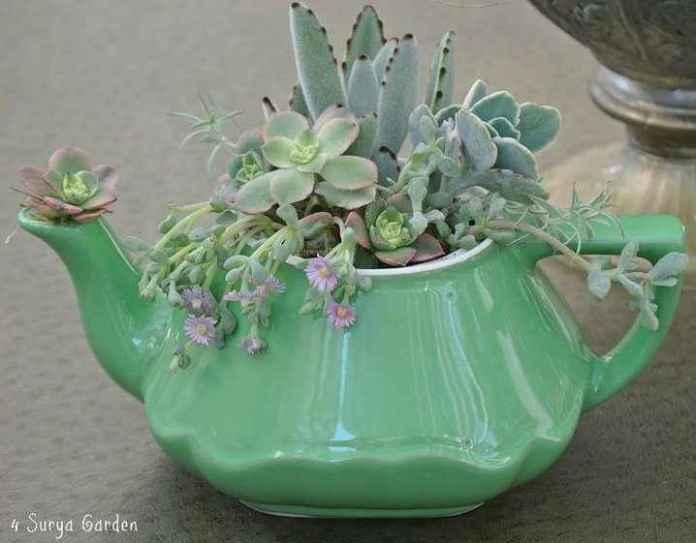 image10-63 | Чудесные цветочные горшки из старых чайников