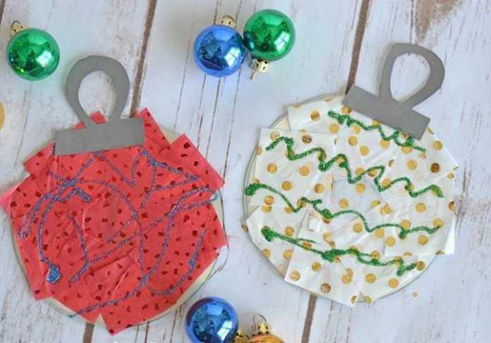 image28-1 | Новогодние и Рождественские украшения из компакт-дисков