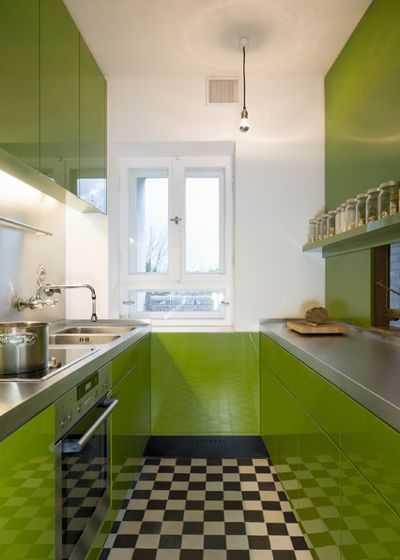 image4-15   9 примеров узких кухонь