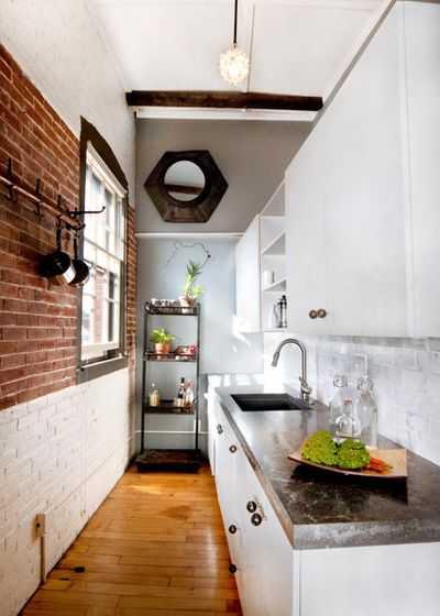 image6-17   9 примеров узких кухонь