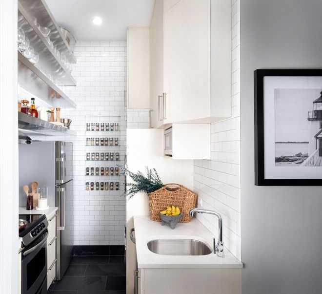 image8-16   9 примеров узких кухонь