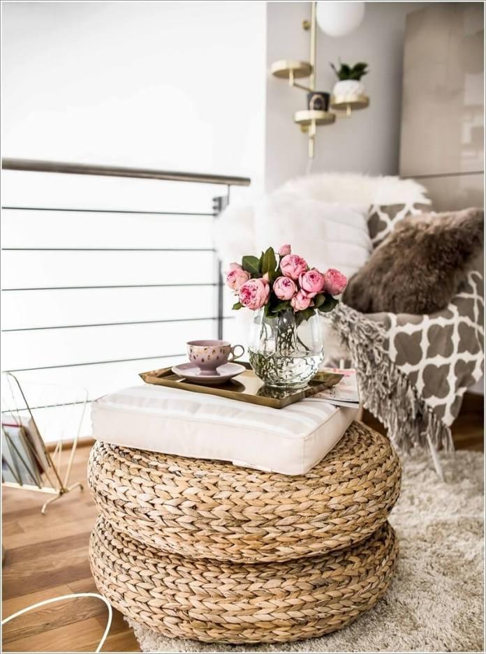 image5 | Как украсить дом плетеными пуфиками