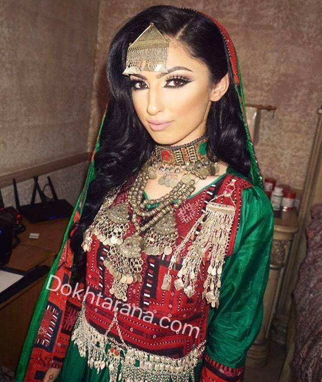 لباس سبز زيبا افغانى