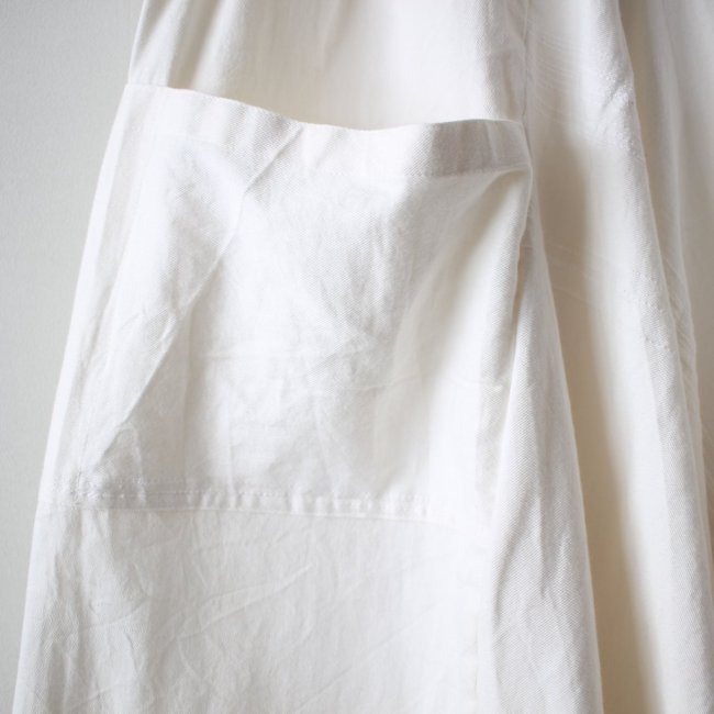 basic chotan skirt LONG #white