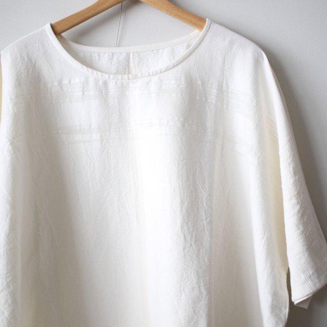 basic fuwa-T HALF SLEEVES #white