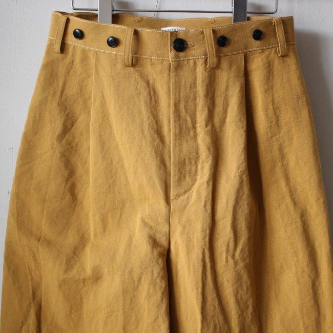 ドックヤードワイドパンツ #dry gold