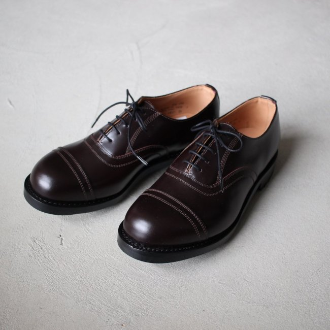 CORDVAN 5 EYE OXFORD SHOE #brown