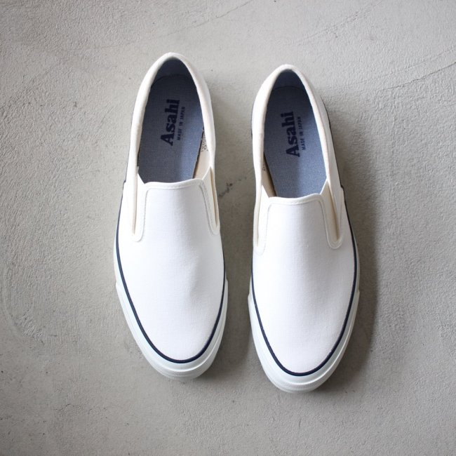 ASAHI DECK SLIP-ON #white メンズ