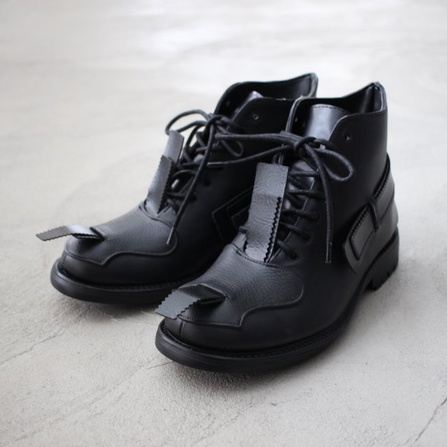 RUBBER COMBAT BOOTS #black