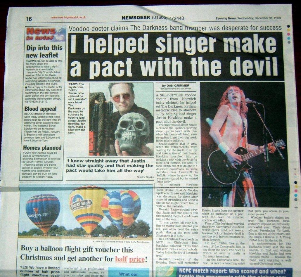 Evening News Darkness Devils Pact December-31-2003