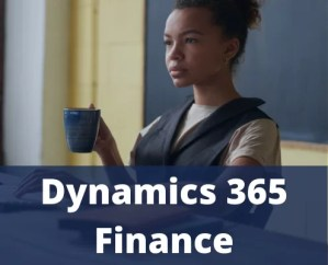 Woman working on the dynamics 365 finance solution from microsoft implemented by dokumentive