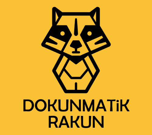 dokunmatik rakun logo kare sarı