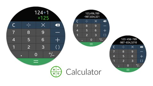 Samsung Galaxy Watch Calculator Uygulaması