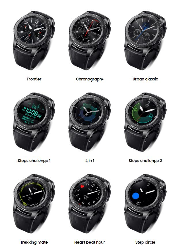 Samsung Gear S3 Saat Yüzleri