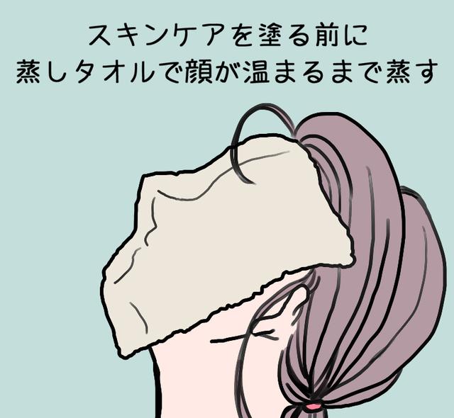 蒸しタオルで顔を暖める.jpg