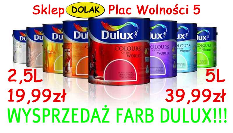 Wysprzedaż farb Dulux