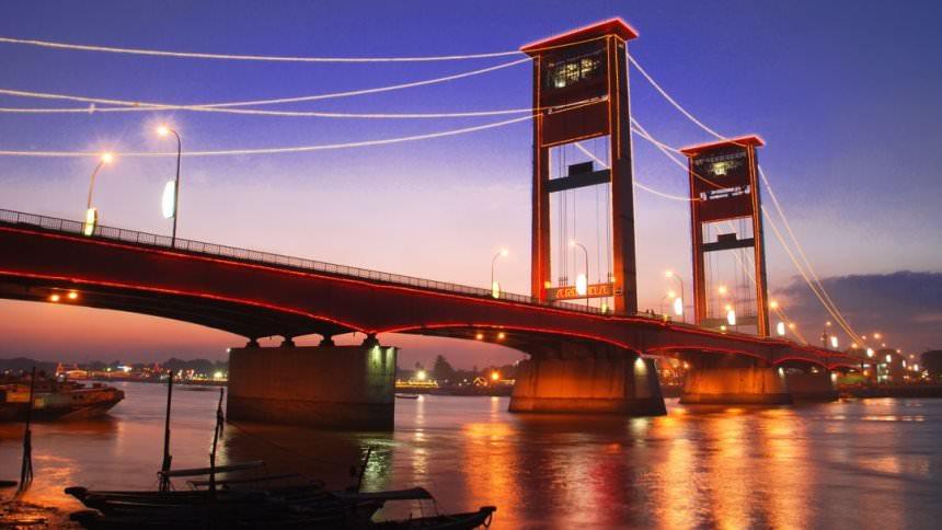 Jembatan Ampera Palembang Jembatan Ampera Palembang - Dolan Dolen
