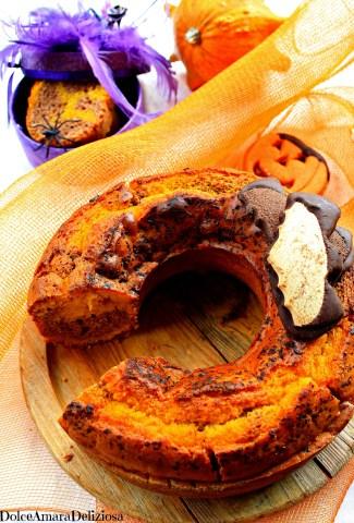 torta variegata zucca e cioccolato vegan (4)